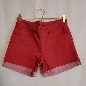 PrAna | Red Denim Shorts